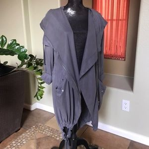 urban outfitters stone gray coat